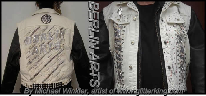 jacket vest berlin bling glitter fashion fashionweek rockfashion clothing  clothes
